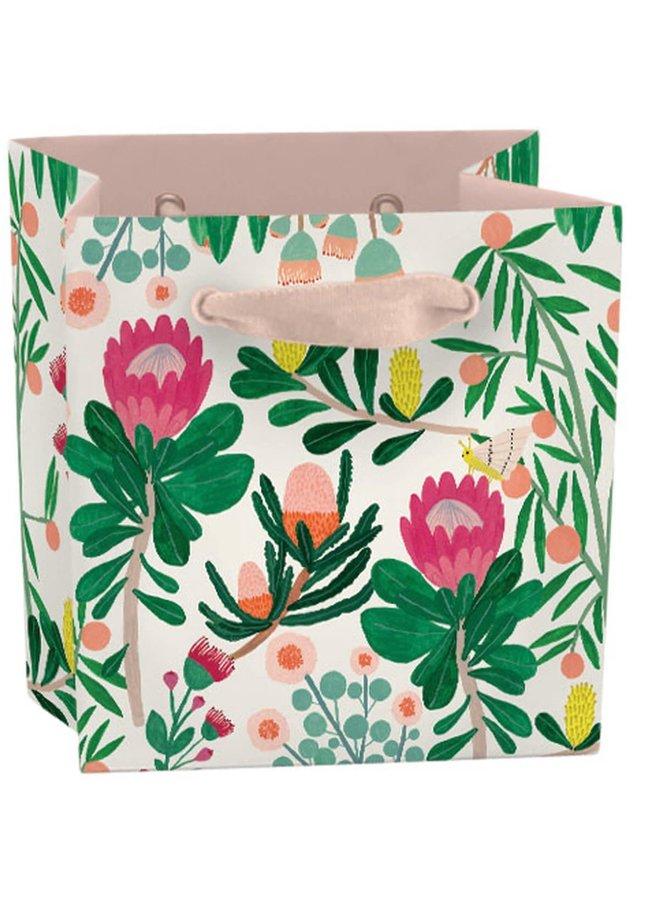 King Protea Floral Mini-Tasche - Bandhenkel und Geschenkanhänger