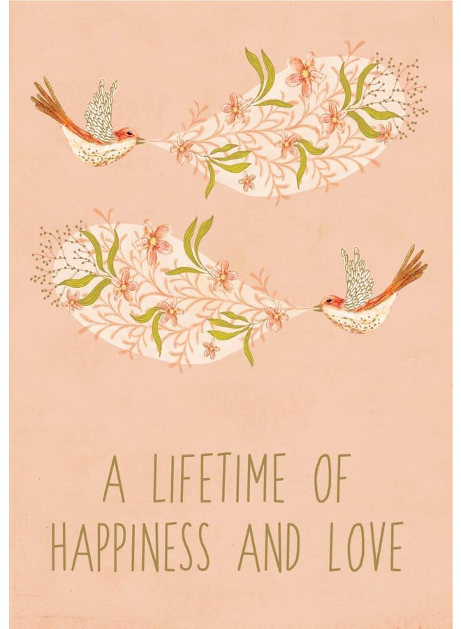 Happiness with Birds  Gilded Card