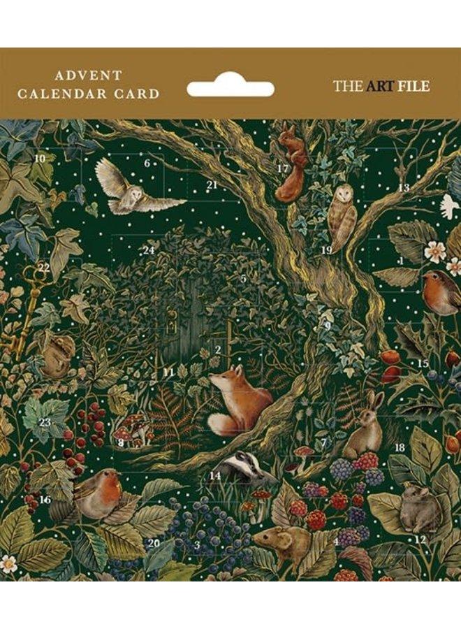 Secret Garden Advent Calender Card