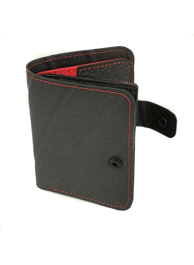 Wallet Ben Style Schlauch mit Reißverschluss Münz- & Kartenfach Rot64