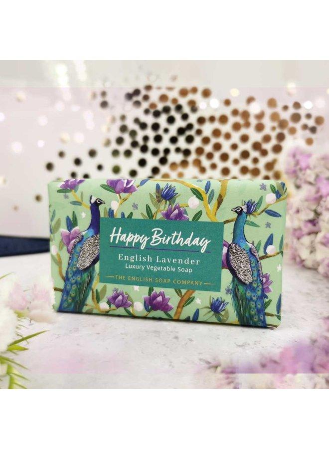 Alles Gute zum Geburtstag Gemüseseife Englisch Lavendel