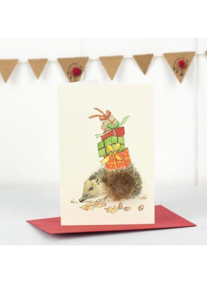 Hedgehog and Presents Festive  Mini Card 16