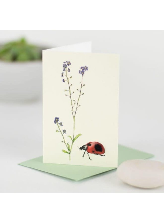 Lady Bird and Forget Me Nots  Mini Card 13