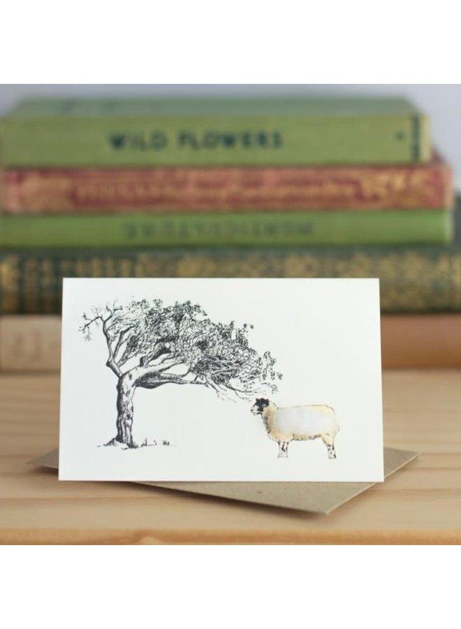 Sheep and Tree Mini Card 05