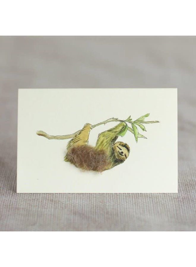 Sloth on Branch  Mini Card 02