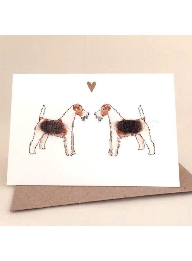 Terrier Dogs in Love  Mini Card 06