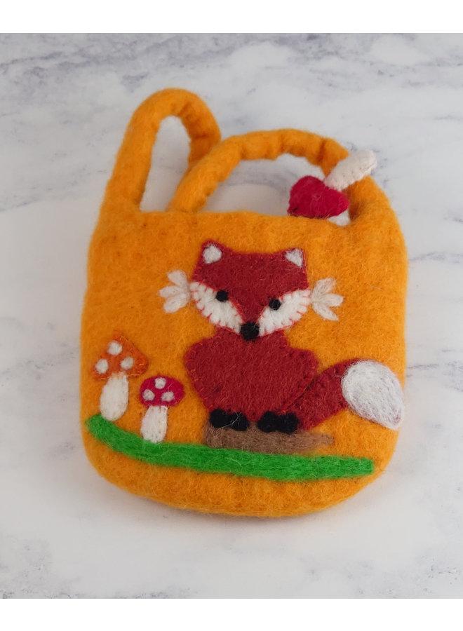 Fox Felt Tiny Strap Bag mit Reißverschluss 41