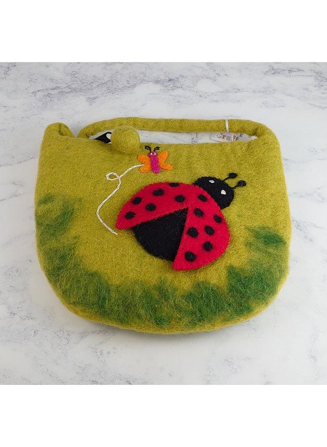 Ladybird Filz Tiny Strap Bag mit Reißverschluss 39