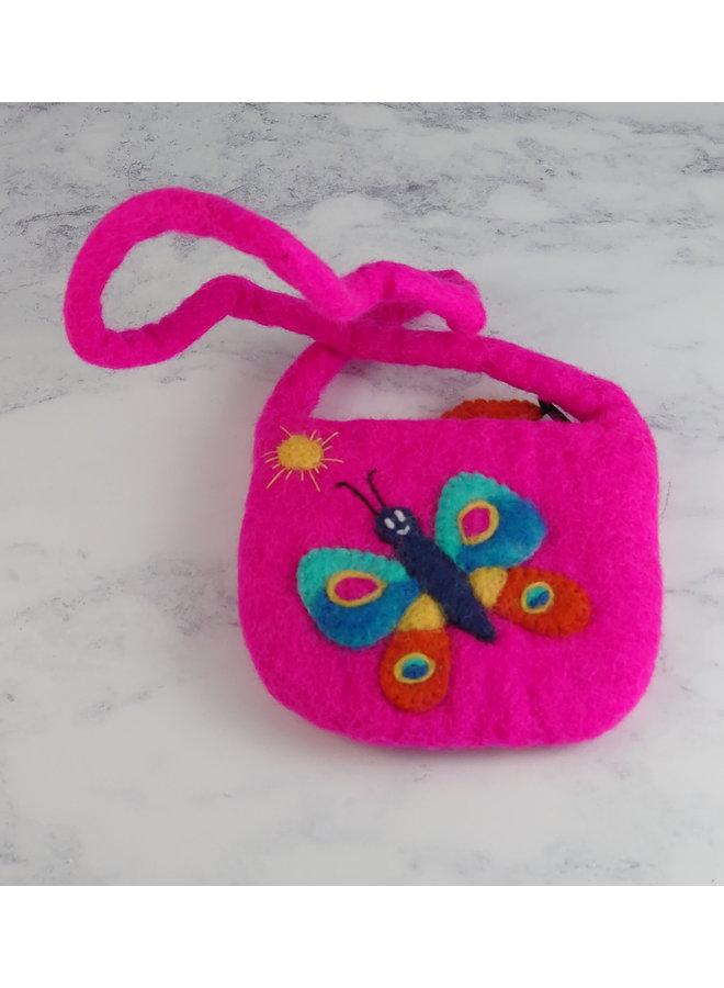 Schmetterlingsfilz Tiny Strap Bag mit Reißverschluss 37