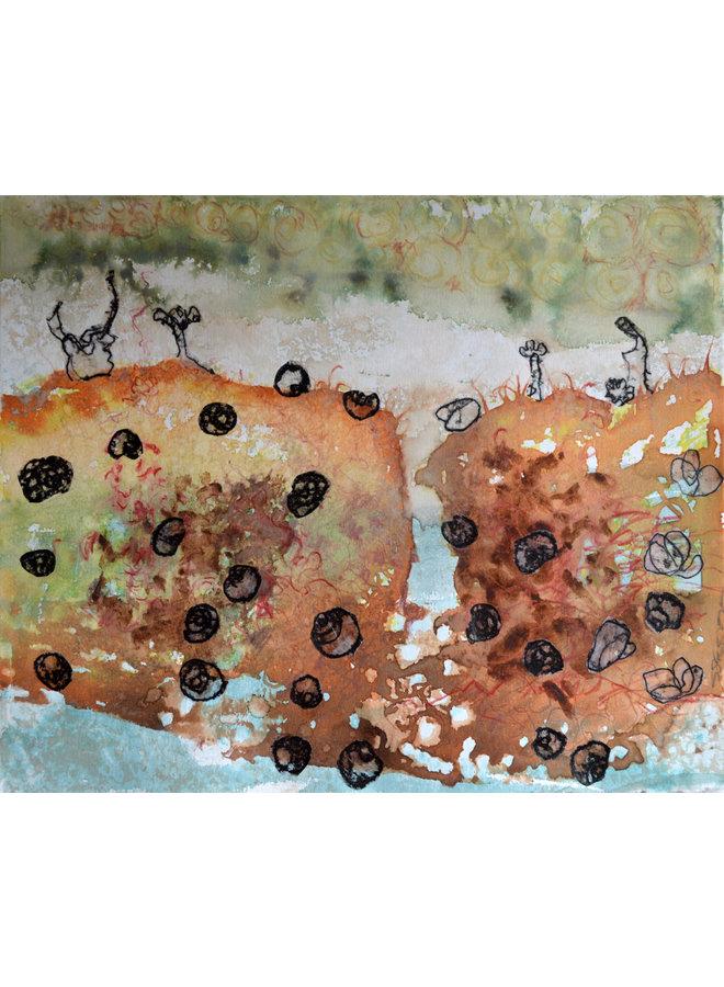 Shoreline 4 Aquarell & Monoprint - 11