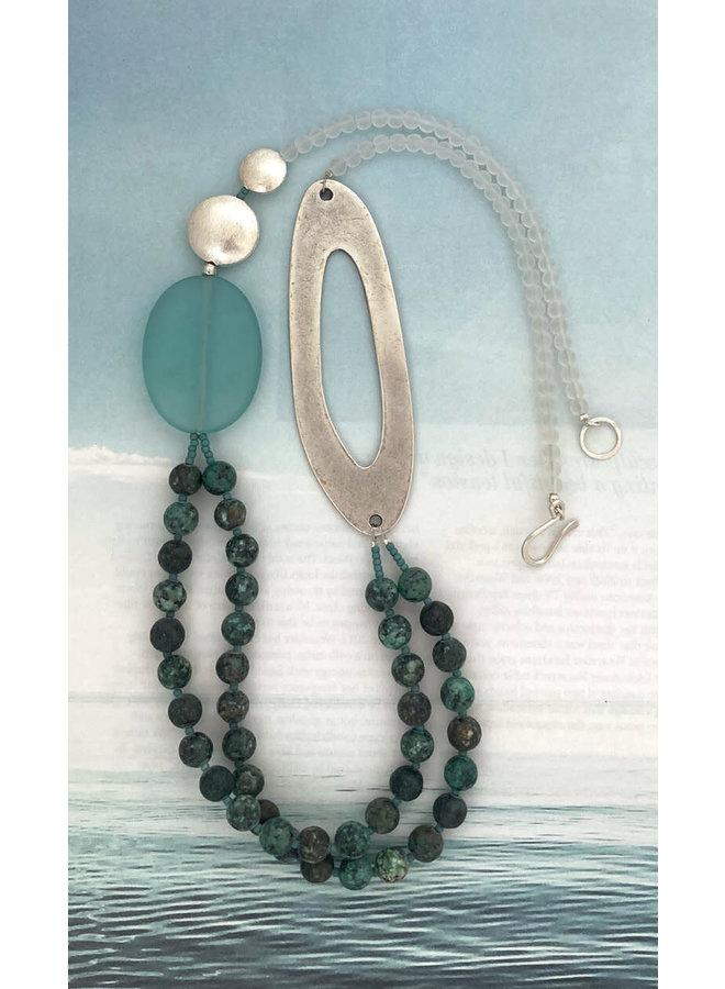 Afrikanische Türkis II Halskette 125