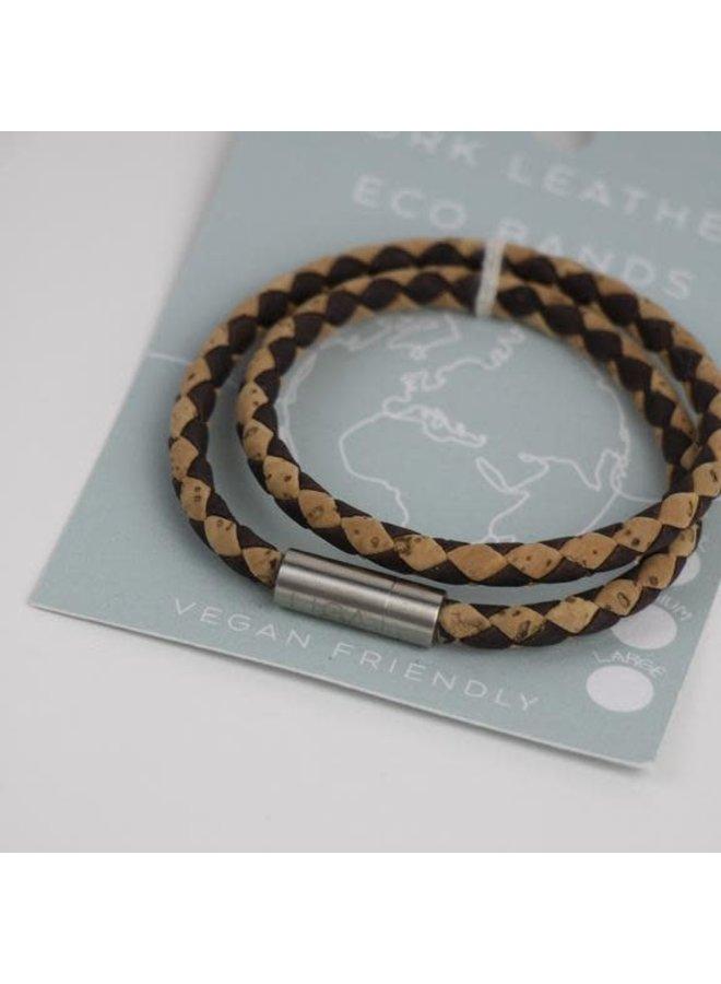 Eco Kork doppeltes magnetisches Twist-Armband Medium 23