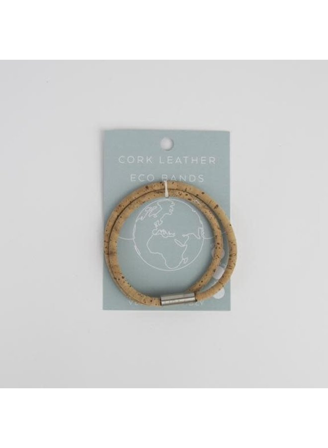 Eco Kork Doppelmagnetarmband natur klein 16