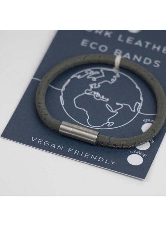 Eco Kork einzelnes magnetisches graues Armband Small 33