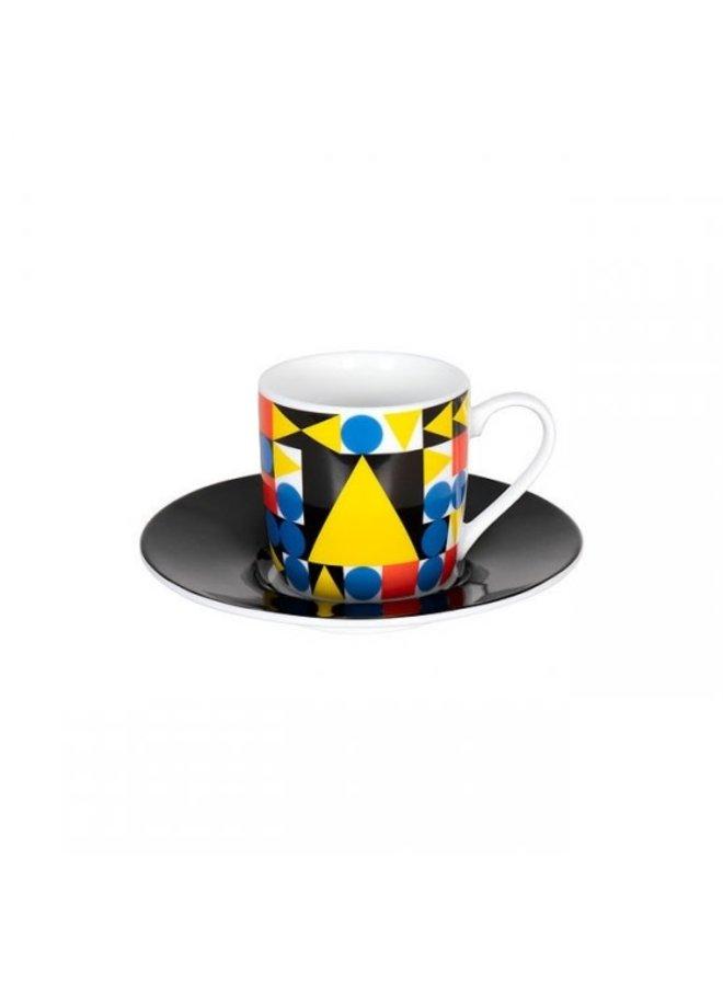 Espressoset Bauhaus by Typoly Yellow Triangle