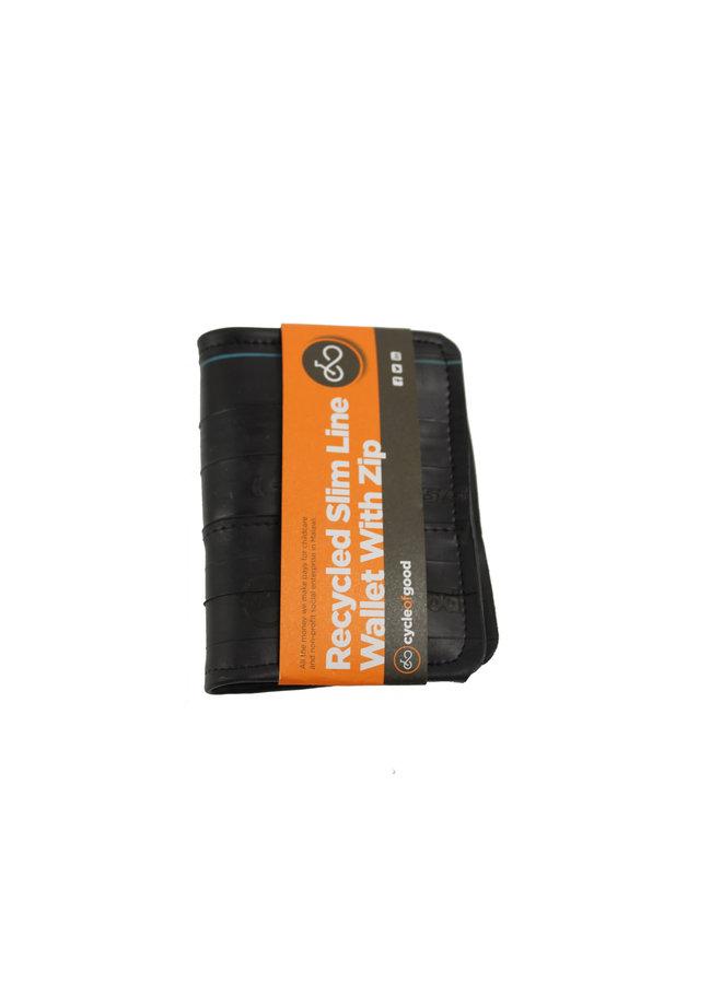 Slimline-Brieftasche mit Innenrohr und Münzfach
