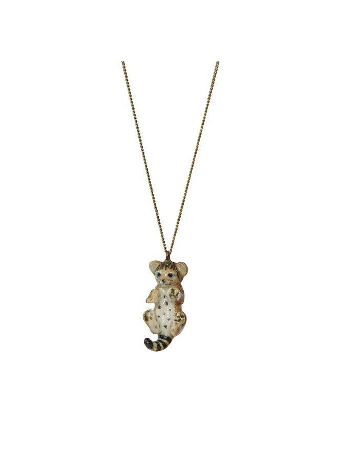 Bengal Kätzchen Halskette handbemalt 112
