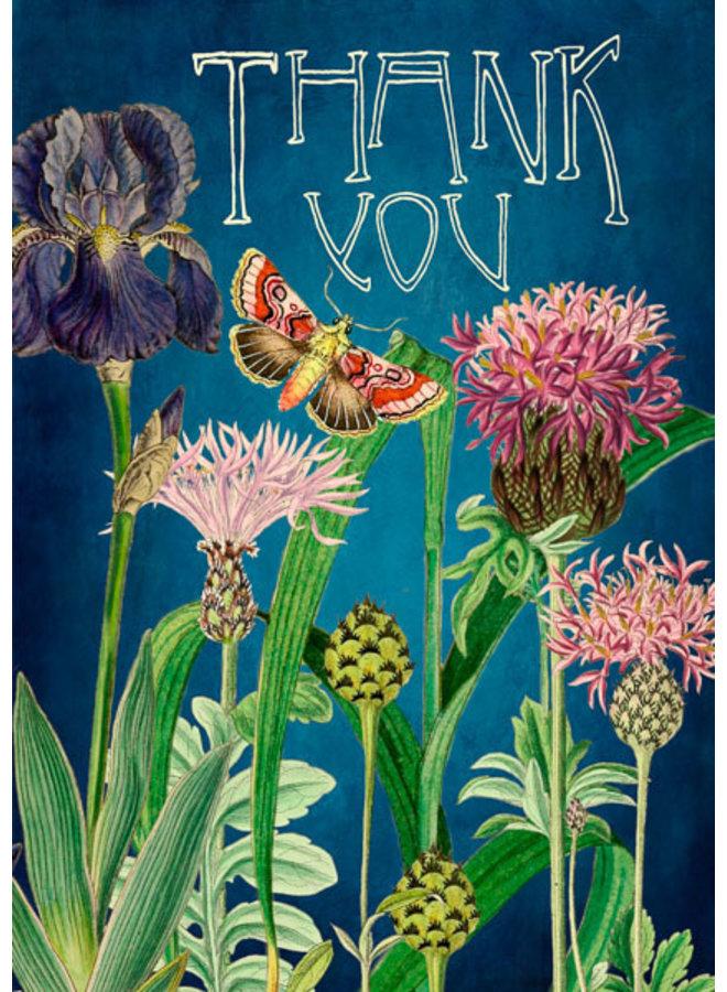 Thank You Iris & Thistles  Card