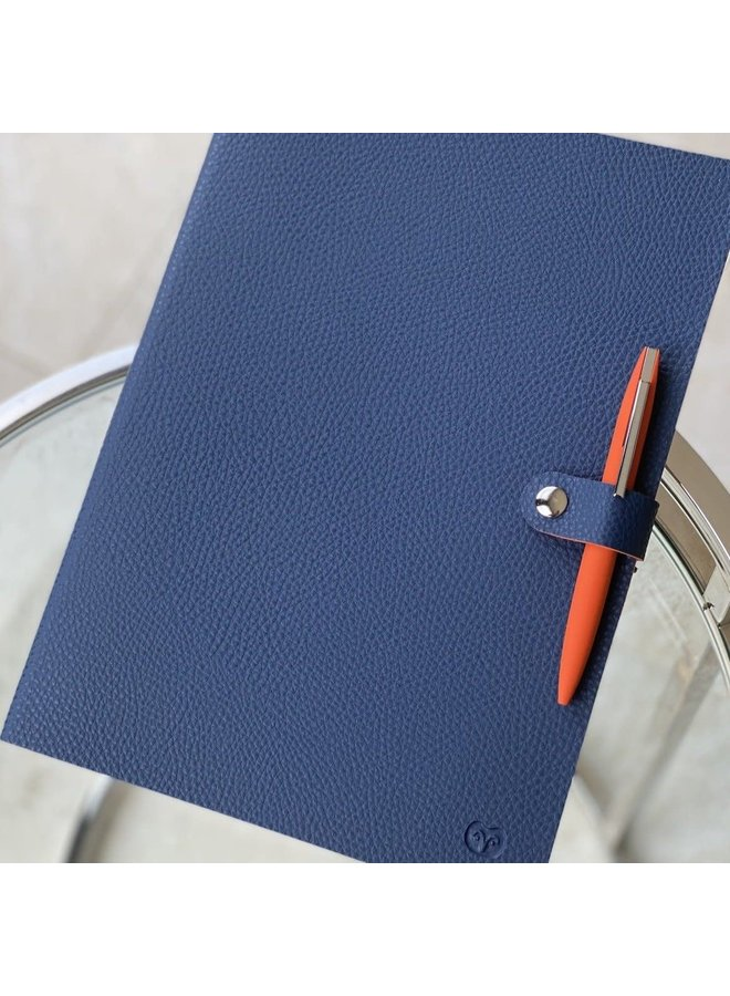 A4 Notebook Navy and Orange 54