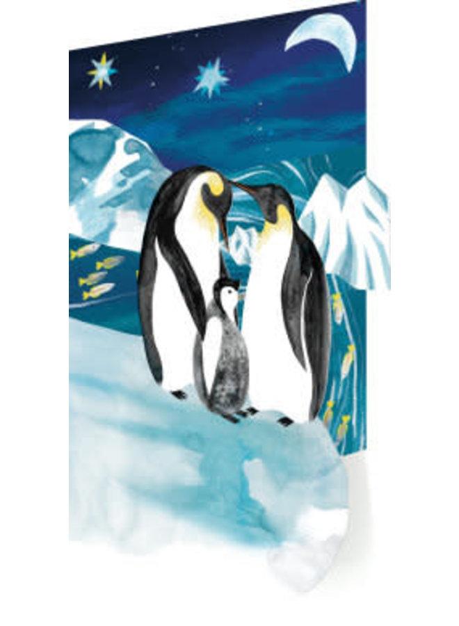 Pinguin Trio 3 D Weihnachtskarten 6er Pack
