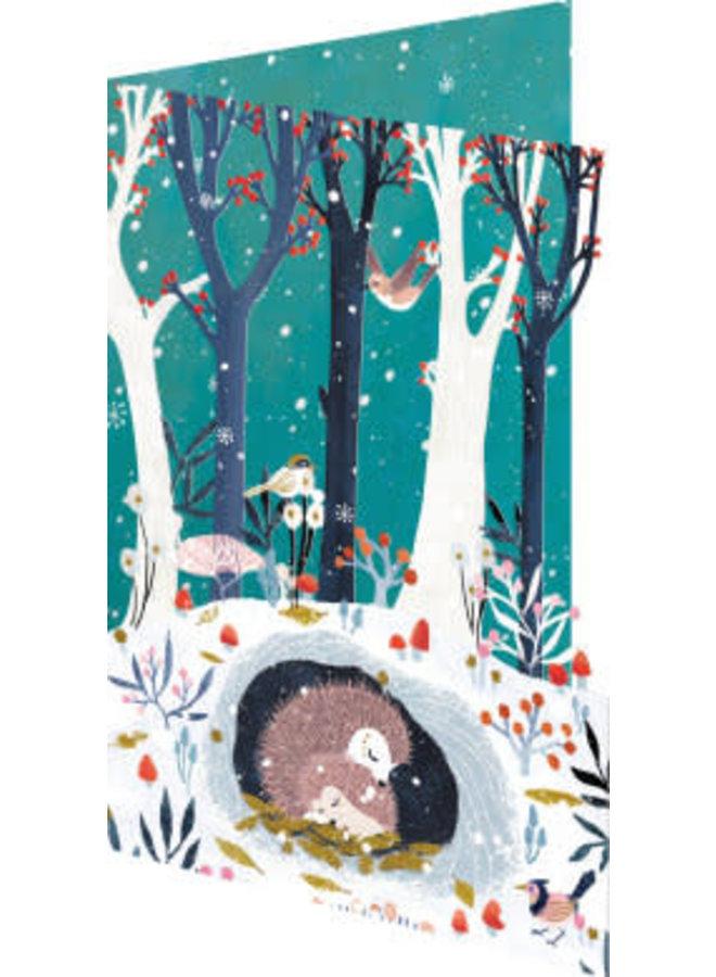 Sleepy Forest 3D Weihnachtskarte 6er Pack