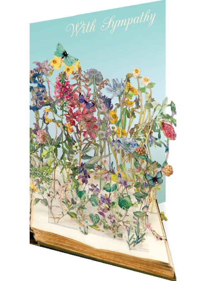 Sympathie-Blumen-Laserkarte