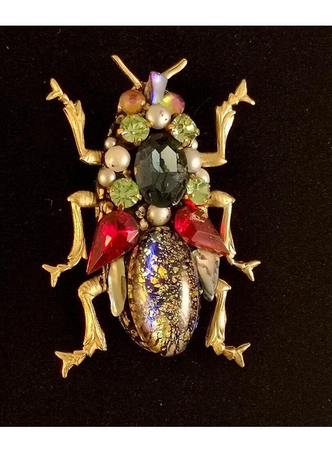 Käfer mit Roten Flügeln Brosche groß 262