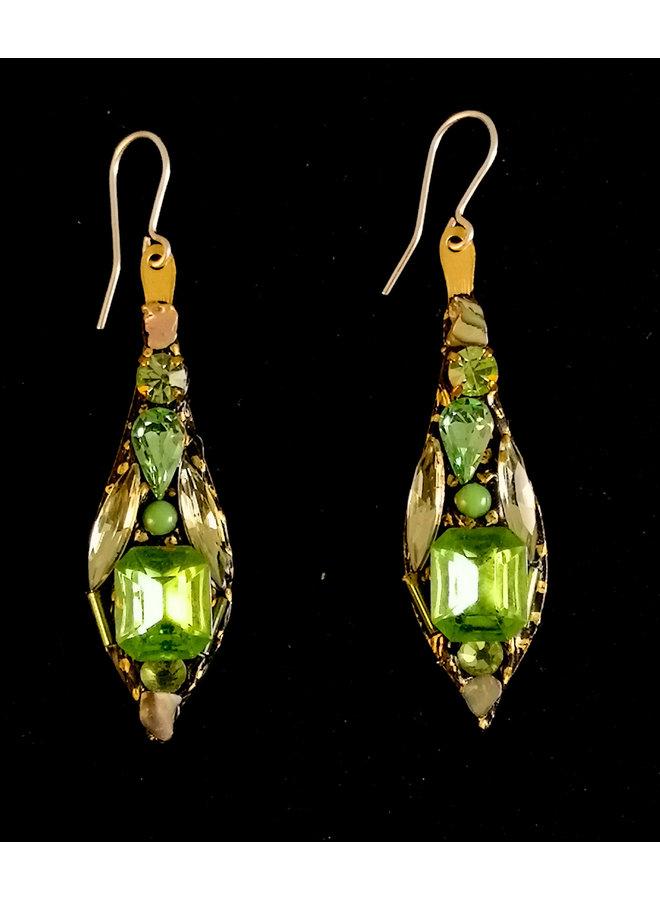 Grüne große Ohrringe 285