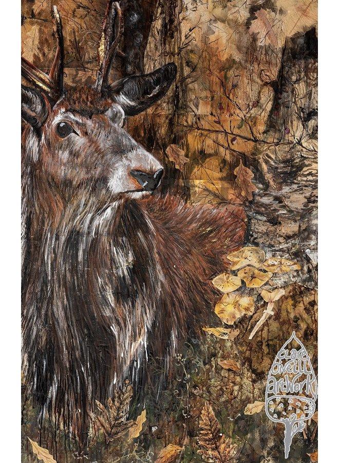 Herbst-Hirsch große Künstlerkarte 01