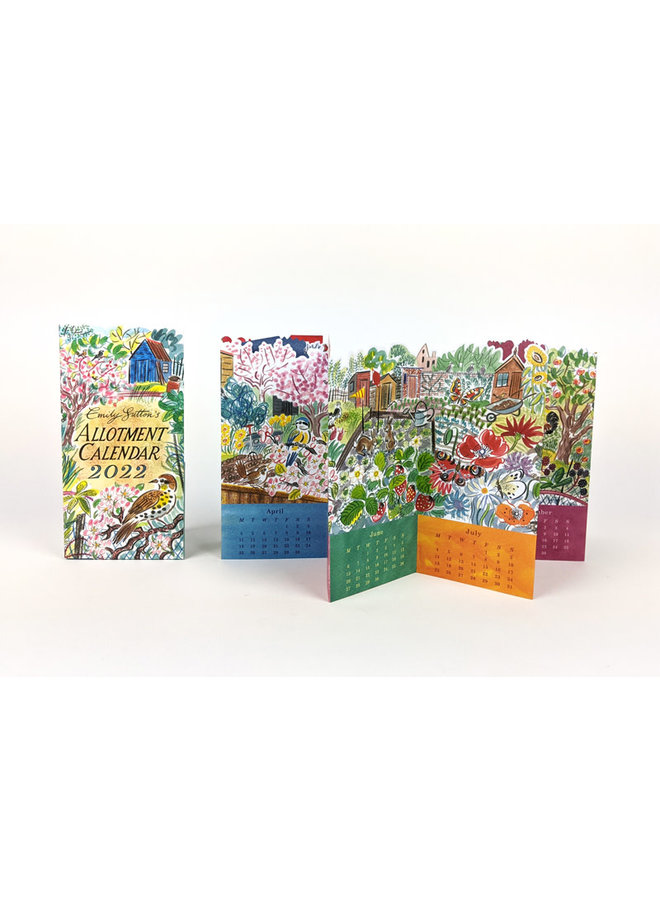 Allotment Fold Out Calendar 2022 by Emily Sutton