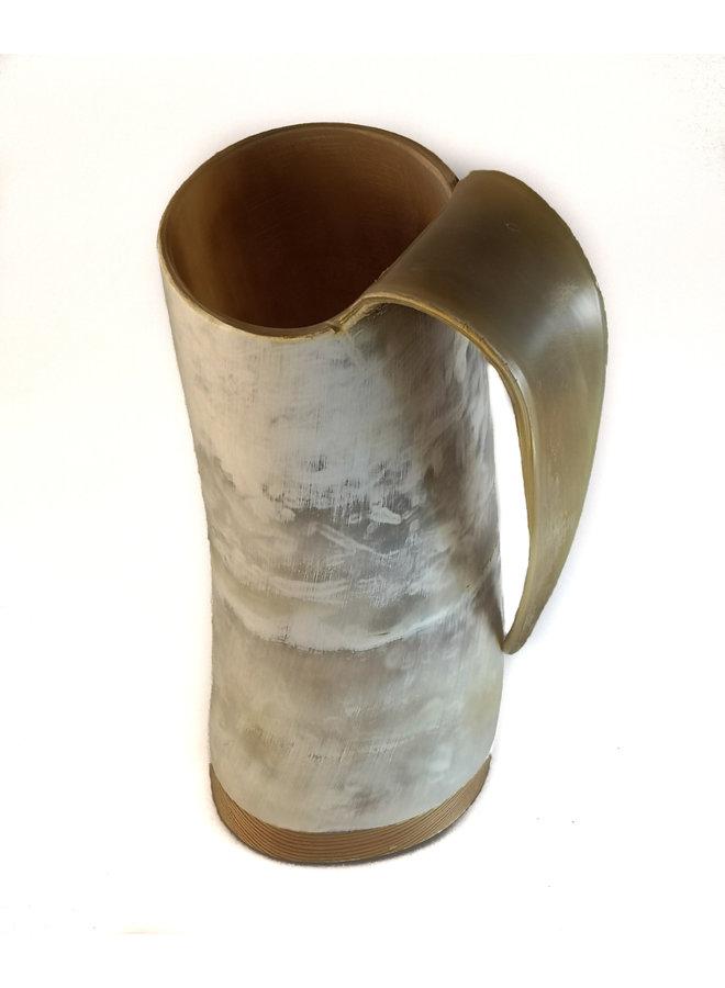 Trinkflagon poliertes Horn groß 66