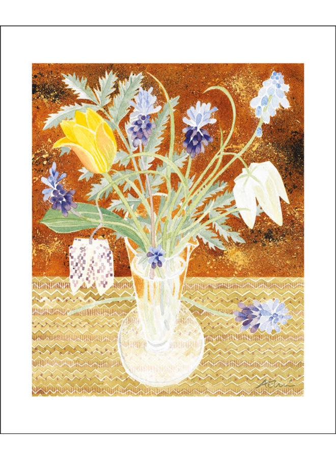 Spring Flowers by angie Lewin