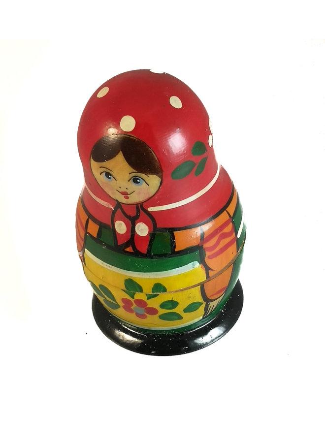 Red Dots Traditional 5 Stück handbemalte Matroschka klein 137