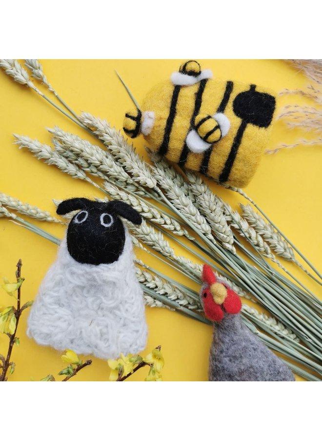 Farmyard Friends Filzei gemütlich oder Dekoration (jeweils)