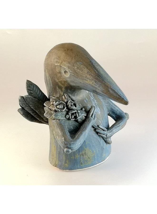 Caretaker Bird Holding a Sprig 12