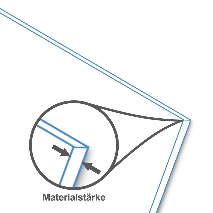 BISKAMI PVC-Kunststoffplatte Dunkelgrau
