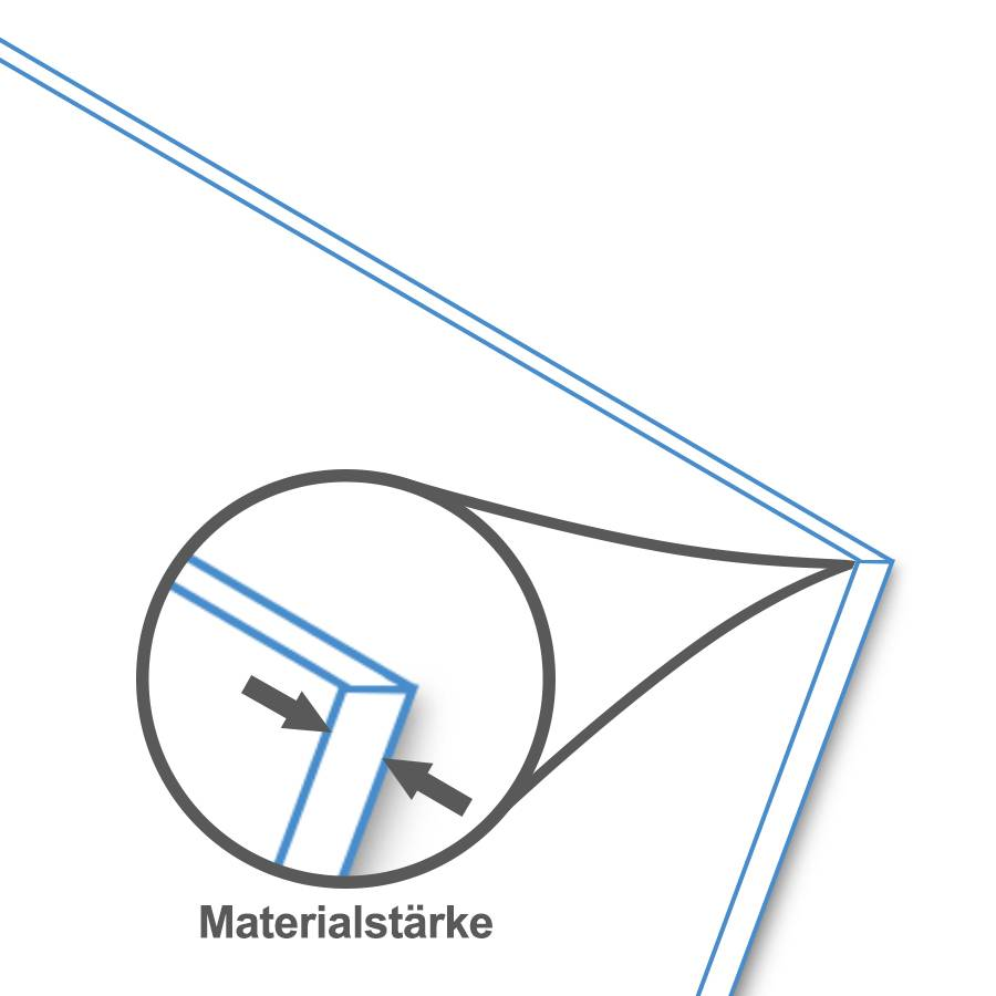BISKAMI PVC-Kunststoffplatte Weiß