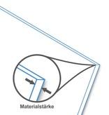 BISKAMI PVC Balkonverkleidung Weiß