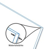 BISKAMI PVC-Balkonverkleidung Dunkelgrau