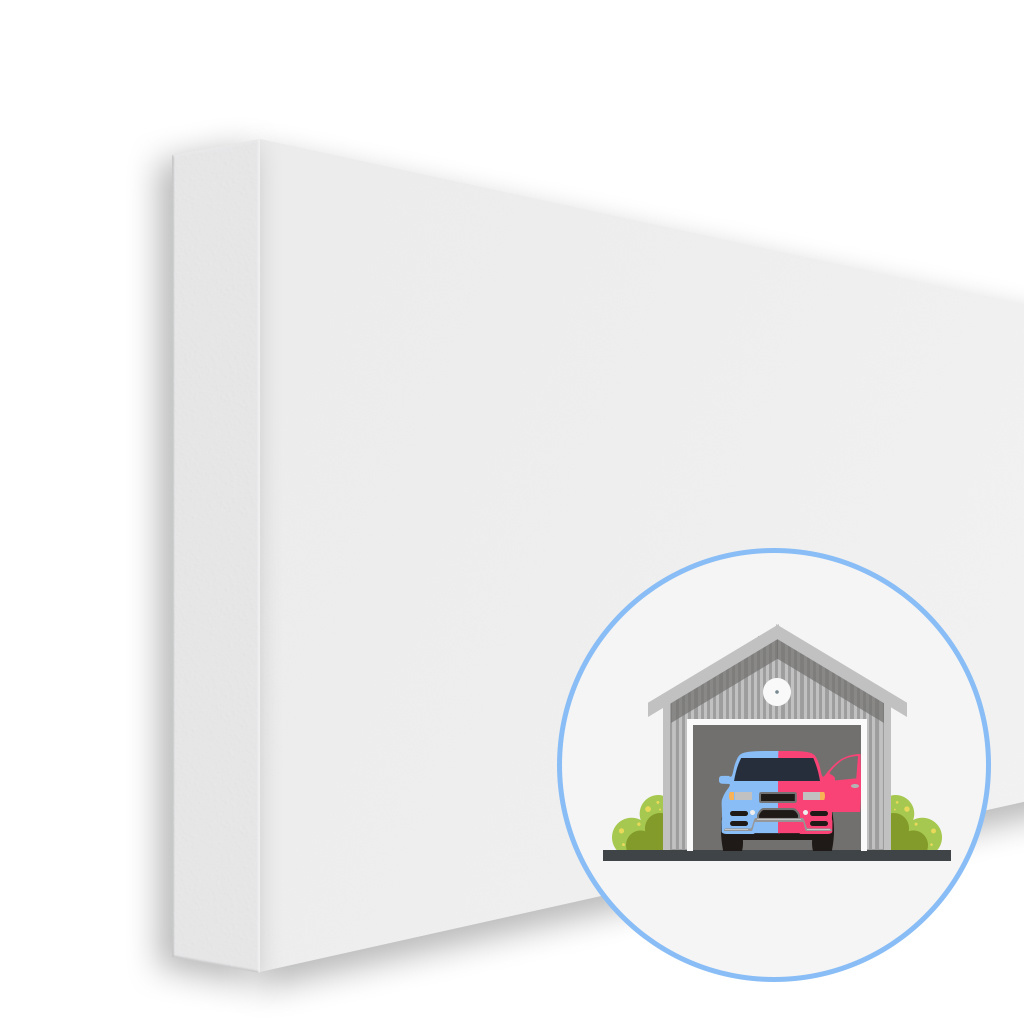 BISKAMI Wandschutz Garage | Weiß