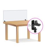 BISKAMI Spuckschutzscheibe | Variante 12 mit Tischklemmen