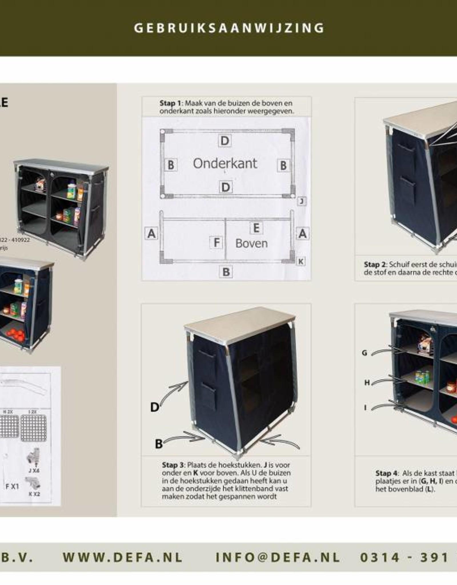 Defa Europe Defa Schuine kast 6 planks