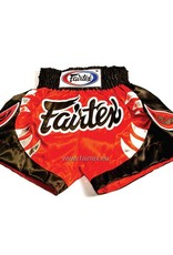 "Fairtex BS0611 ""Bite"" Satin Muay Thai Shorts - Rot/Schwarz"