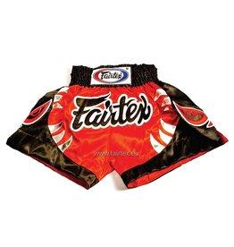 """Fairtex BS0611 """"Bite"""" Shorts - Red/Black"""