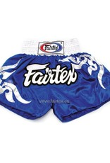 "Fairtex BS0624 ""Thai Glorious Pattern"" Satijnen Muay Thai Broekje - Blauw"