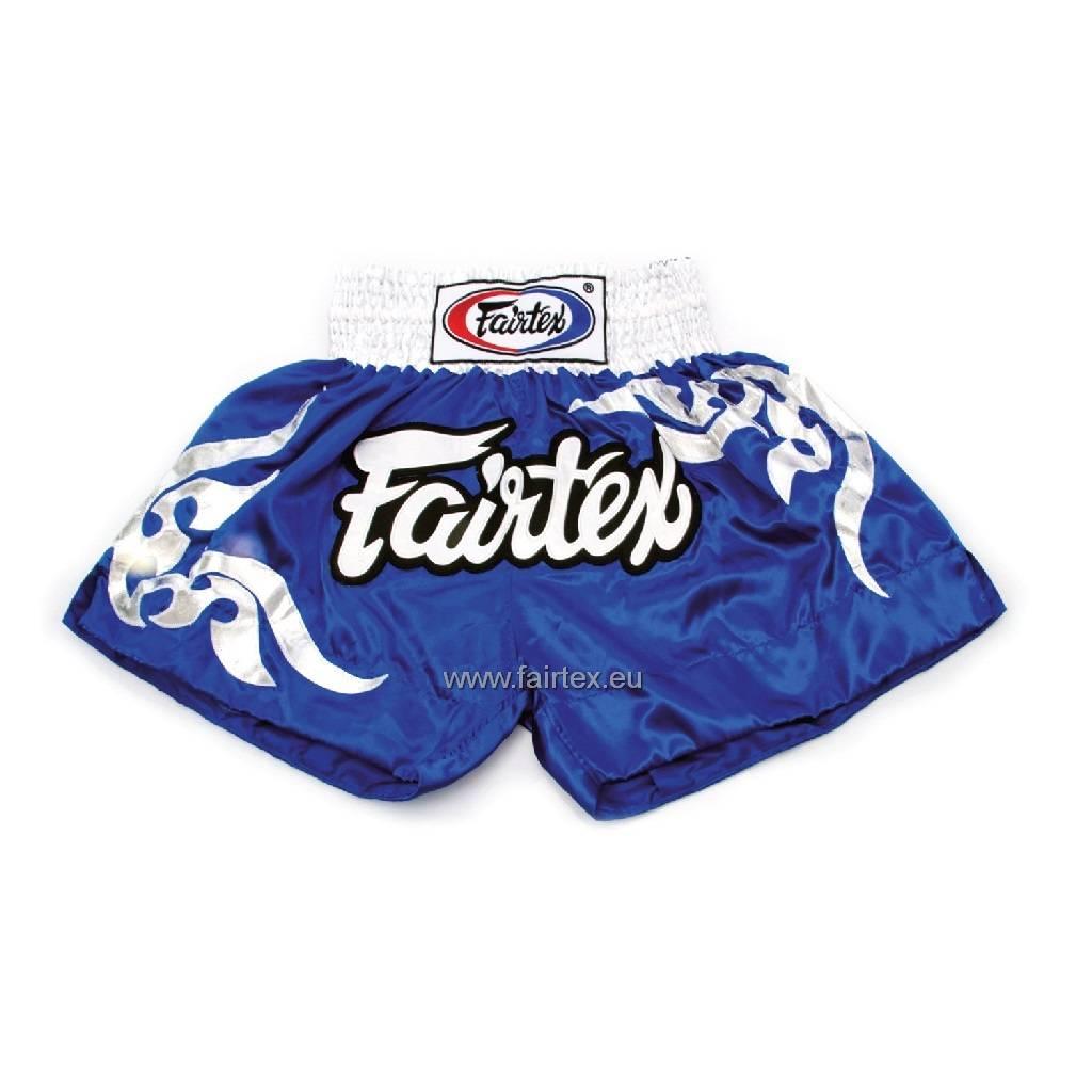 """Fairtex BS0624 """"Thai Glorious Pattern"""" Satin Woven Muay Thai Shorts - Blue"""