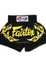 "Fairtex BS0646 ""Eternal Gold"" Satin Muay Thai Shorts - Schwarz"