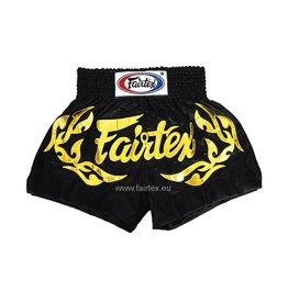 """Fairtex BS0646 """"Eternal Gold"""" Shorts - Black"""