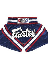 """Fairtex BS0653 """"Brave"""" Satin Woven Muay Thai Shorts - Blue - XL"""