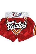 """Fairtex BS0654 """"Triangle"""" Satin Woven Muay Thai Shorts - Red"""